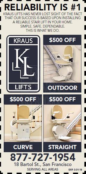 sale price chronical san francisco kraus curve stair lifts